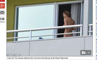 Brasil 2014: escándalo por desnuda en concentración inglesa