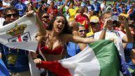 Italia vs. Costa Rica: así lo viven los hinchas en las tribunas