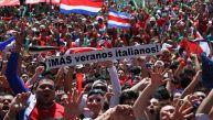 Miles de costarricenses festejaron clasificación en Brasil 2014