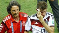 Müller sufrió un corte en partido Alemania-Ghana por el Mundial
