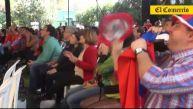 Así sufrieron los hinchas chilenos la derrota ante Holanda