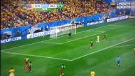 Neymar anotó el gol número 100 del Mundial Brasil 2014