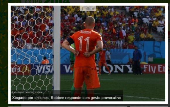 En Chile consideran que Robben se burló de ellos con este gesto