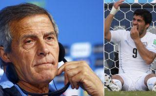 El 'Maestro' Tabárez defendió con furia a Luis Suárez