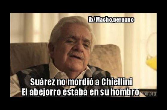 Los memes de la mordida de Luis Suárez a Chiellini