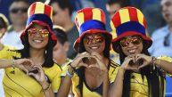 Japón vs. Colombia: bellas aficionadas alientan a sus equipos