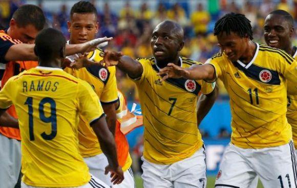 Colombia goleó 4-1 a Japón y clasificó como primero del grupo D