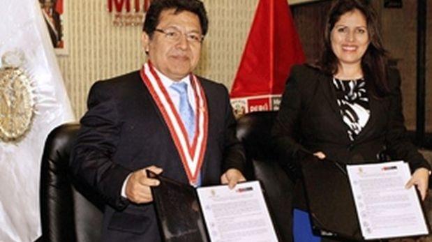 Ramos y Omonte firman convenio contra la trata de personas