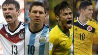 Brasil 2014: la tabla de goleadores de la Copa del Mundo