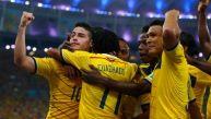 Colombia ganó 2-0 y está en cuartos de final por primera vez