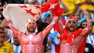Argentina vs. Suiza: el desenfado de los hinchas en tribunas