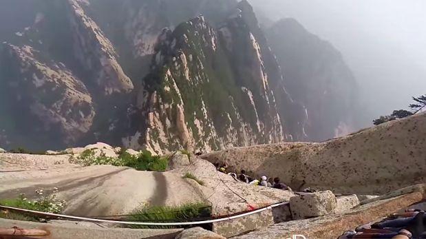 VIDEO: Así realizan la escalada en roca más mortal del mundo