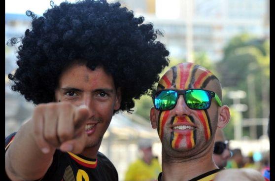 Bélgica vs. USA: 'Fellaini' y otras caras curiosas en Bahía