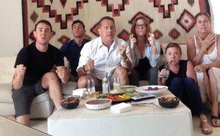 Así vivió Tom Hanks el partido de EE.UU. en el Mundial