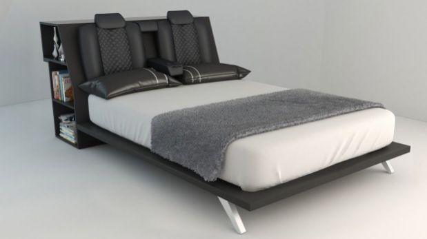 Una cama de matrimonio con forma de auto de carreras   Automotriz ...