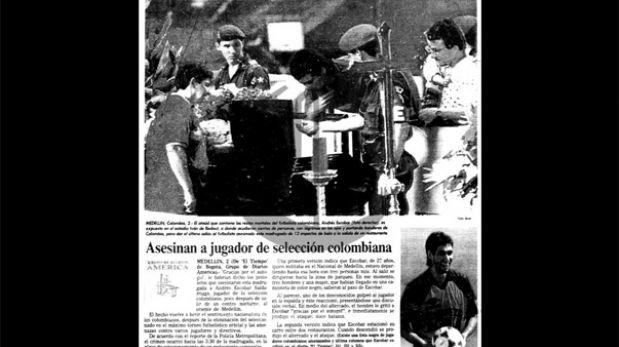 Así ocurrió: En 1994 asesinan a Andrés Escobar por un autogol