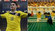 Golazo de James Rodríguez a Uruguay es recreado en Lego