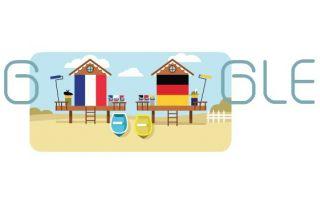 Cuartos de final: Francia vs Alemania en un doodle de Google
