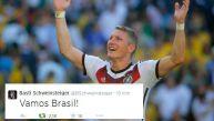 Bastian Schweinsteiger y su tuit deseando que Brasil gane