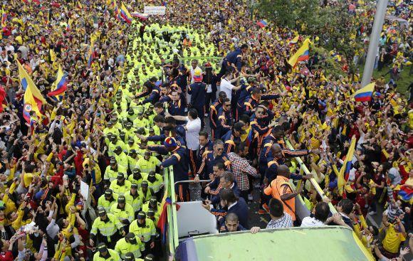 La selección de Colombia llegó a Bogotá tras Brasil 2014