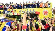 Colombia recibe así a sus héroes pese a eliminación del Mundial