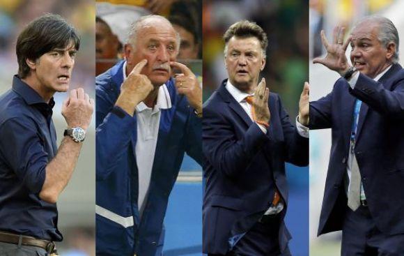 Scolari, Sabella, Low y Van Gaal, la última oportunidad