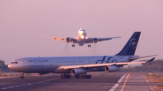 VIDEO: Avión casi se estrella con otro en aeropuerto de España