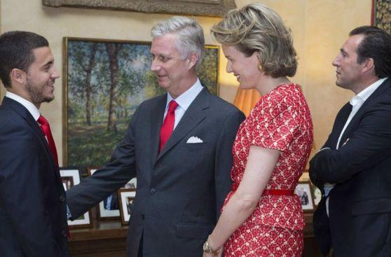 Jugadores de Bélgica fueron recibidos por los reyes de su país