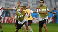 Alemania entrenó para vencer por primera vez a Brasil