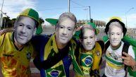 Brasil vs. Alemania: máscaras de Neymar acaparan el Mineirao