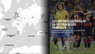 MAPA: Las mayores goleadas en la historia de los Mundiales