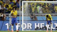 Jugadores brasileños tras goleada: