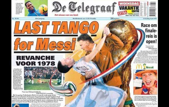"""Diario holandés y su retadora portada: """"Último tango de Messi"""""""