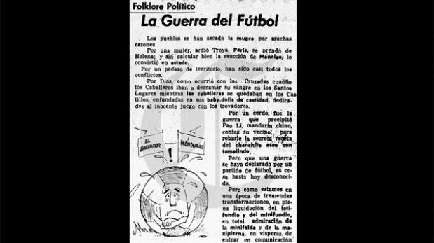 Así ocurrió: En 1969 estalla la 'Guerra del Fútbol'
