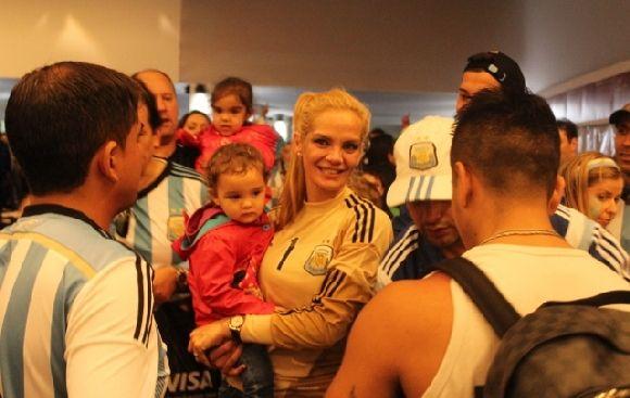 Eliana, esposa de Romero, compartió su alegría con El Comercio