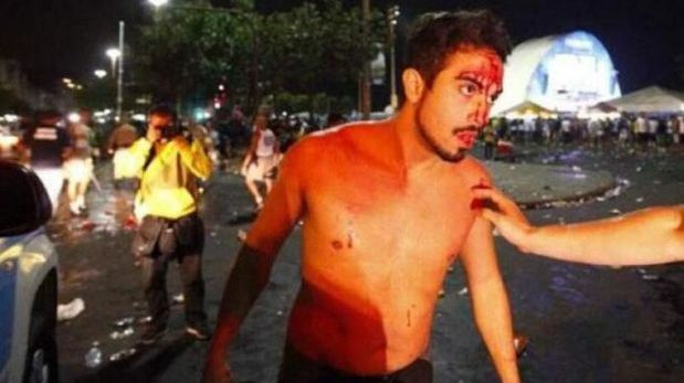 Copacabana: Argentinos y brasileños se enfrentan en las calles