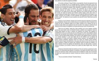 La emotiva carta de un hincha argentino a su selección