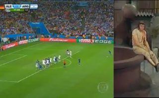 Messi y su tiro libre que se convirtió en viral en YouTube