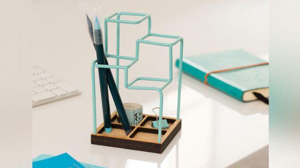 Para la oficina: Un organizador 3D que parece un dibujo