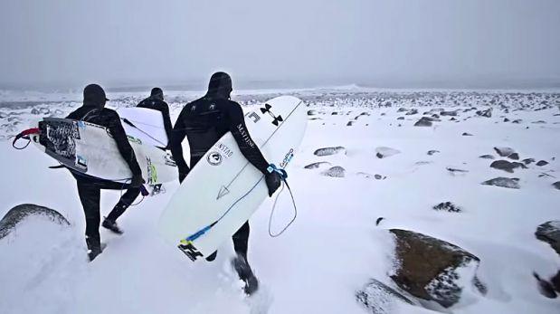 VIDEO: Mira cómo estos tablistas corren olas en el Ártico