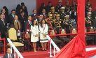 Nadine Heredia y Marisol Espinoza conversaron en Parada Militar
