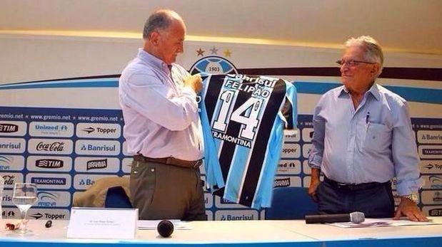 Luiz Felipe Scolari es nuevo técnico del Gremio de Porto Alegre