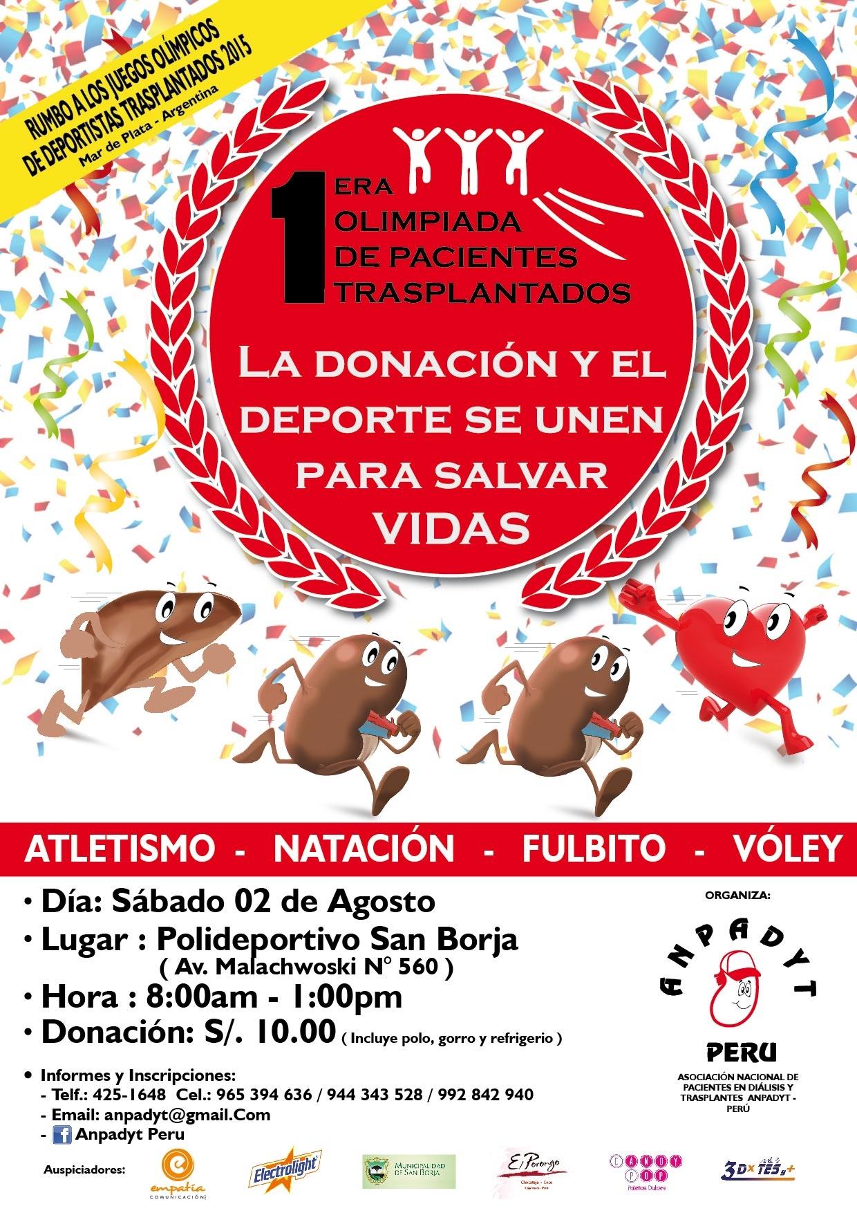 [Foto] Deportistas con órganos trasplantados competirán en San Borja