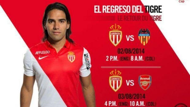 Radamel Falcao reaparecerá mañana después de seis meses fuera