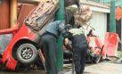 Así quedó el auto que protagonizó el fatal accidente en Surco