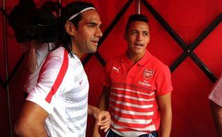 Radamel Falcao y Alexis Sánchez se reencontraron en Londres