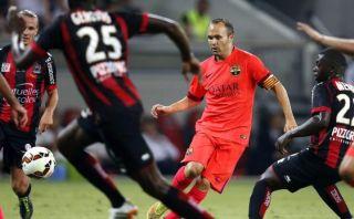 Barcelona de Luis Enrique igualó 1-1 ante el Niza de Francia