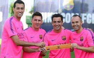 Xavi, Iniesta, Messi y Busquets serán capitanes del Barcelona