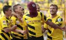 Supercopa alemana: anotó de cabeza y festejó como Spiderman
