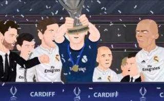 La parodia del título de Real Madrid de la Supercopa de Europa